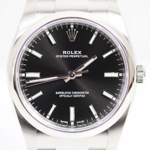 ロレックス ROLEX オイスターパーペチュアル ブラック オートマチック 自動巻き ランダム番 1...