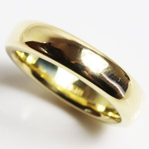 K18 指輪 甲丸リング メンズリング 15.0g サイズ22号/未使用品/買取品/MR3172|koera