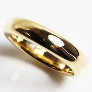 K18 指輪 甲丸リング メンズリング 15.9g サイズ22号/未使用品/買取品/MR3169|koera