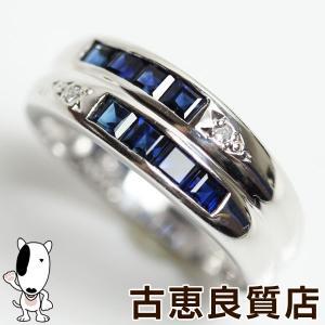 Pt 指輪 サファイア/ダイヤ 0.88ct/0.02ct 4.7gリング サイズ11.5号 あすつく/MR1291/中古|koera