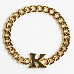 K18 指輪 喜平リング ユニセックス Kモチーフ 1.3g リング サイズ14号/中古/MR3205|koera