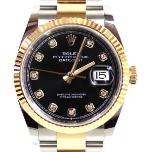 ロレックス ROLEX デイトジャスト 36 メンズ 腕時計 オートマチック 自動巻き黒文字盤 10ポイント イエローゴールド/SS 126233G/中古/美品/MT2945|koera