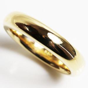 K18 指輪 甲丸リング メンズリング 14.9g サイズ22.5号/未使用品/買取品/MR3170|koera