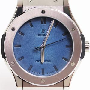 ウブロ HUBLOT クラシックフュージョン ベルルッティ スクリット ブルーオーシャン 511.NX.050B.VR.BER16 メンズ 腕時計  世界限定500本/中古|koera