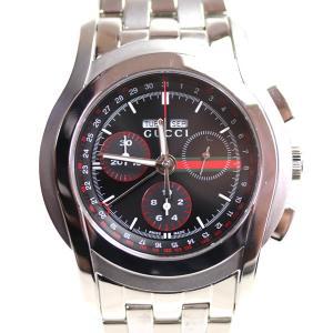 グッチ GUCCI 5500 クロノグラフメンズ 腕時計 5500/YA055206 トリプルカレンダー シルバー クオーツ/中古/MT2848|koera