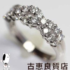 Pt プラチナ リング 指輪 Pt900 D.1.0ct 5.3g サイズ13号/MR302/中古/質屋出店/あすつく