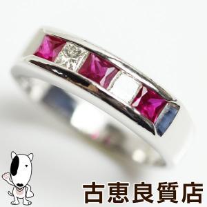 Pt900 プラチナ 指輪 ルビー 0.47ct/ダイヤリング 0.17ct 4.8gリング サイズ9号 あすつく/MR1288/中古|koera