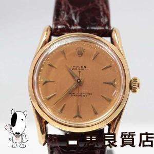 ロレックス ROLEX 6590 メンズ 腕時計 オイスター アンティーク OH済み K14無垢 ゴールド文字盤/中古/質屋出店/あすつく/MT259/値下げ|koera