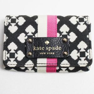ケイトスペード Kate Spade カードケース/名刺入れ ベージュ WLRU1915 質屋出店 中古|koera