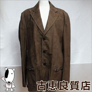 LOEWE ロエベ ジャケット 牛革 スエード スペイン製 メンズ 54 皮半コート ブラウン中古/質屋出店/あすつく/値下げ|koera