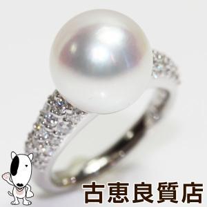 Pt 指輪/パール11.5mm 真珠 白蝶真珠 ダイヤ0.60ct 8.9gリング サイズ11.5号 あすつく/MR1236/中古/ koera