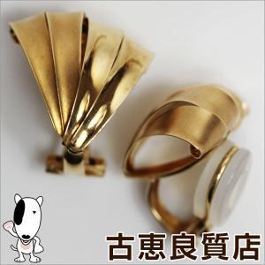 K18 イエローゴールド イヤリング センスモチーフ 2.8g/中古/質屋出店/あすつく|koera