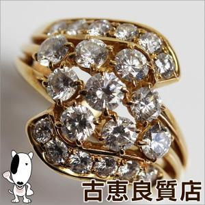 POLA ポーラ K18 イエローゴールド リング 指輪 9.5g サイズ12号 ダイヤ2.00ct/中古/質屋出店/あすつく/MR908|koera