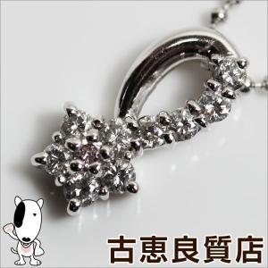 Pt プラチナ ネックレス ダイヤ0.32ct 4.8g 41cm/中古/質屋出店/あすつく/MN1171|koera