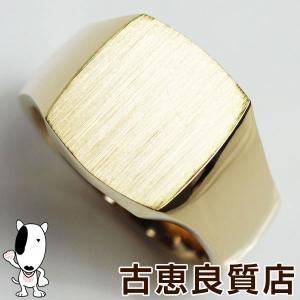 K18 ゴールド 印台 メンズリング 指輪 30.1g サイズ22号あすつく/MR1243/中古/美品|koera