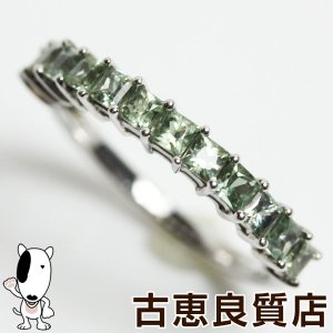 K18WG 指輪 ホワイトゴールド グリーンサファイア1.14ct 2.7gリング サイズ12号 /新品仕上げ済みあすつく/MR1292/中古|koera