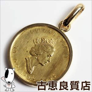 K18枠 メイプルリーフ金貨 1 OZ 24金 1996年 ...