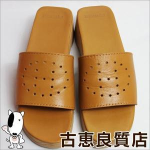 エルメス HERMES レディース 女性靴 サンダル サイズ36 日本サイズ約23cm エブリン パンチング ライトブラウン/中古/質屋出店/あすつく|koera