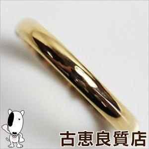 プレミアム会員ポイント5倍 K18 イエローゴールド 甲丸 リング 指輪 1.8g サイズ11号/中古/あすつく/MR1179|koera