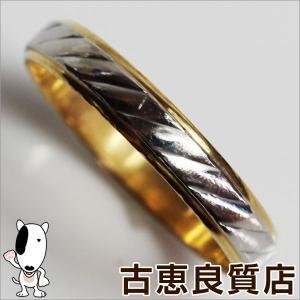 Pt/K18YG プラチナ/イエローゴールド 指輪 コンビ ファッションリング 2.3g リングサイズ14号/中古/質屋出店/あすつく/MR922 koera