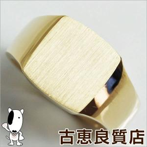 K18 ゴールド 印台 メンズリング 指輪 30.2g サイズ22号/中古/あすつく/MR1184|koera