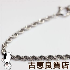 K18WG デザインネックレス フレンチロープ 8.2g 40cm ネックレス ホワイトゴールド/中古/質屋出店/あすつく/MN1014|koera