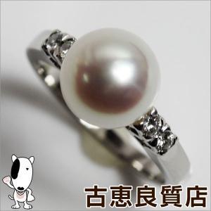 ミキモト MIKIMOTO Pt950 指輪 ファッションリング 9mm パールリング 5.2g リング サイズ9.5号/中古/質屋出店/あすつく/MR995|koera