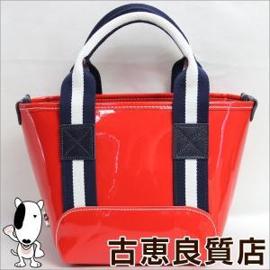 BONFANTI ボンファンティ ミニハンドバッグ PVC イタリア製 赤 レッド/中古/美品/質屋出店/あすつく|koera