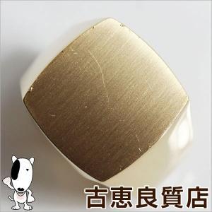 K18 ゴールド 印台 メンズリング 指輪 37.7g サイズ20.5号/中古/質屋出店/あすつく/MR1029|koera