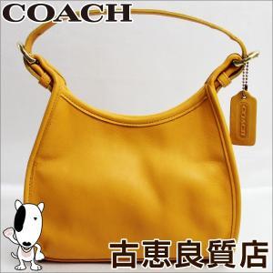 コーチ COACH 4106 レザー ショルダー イエロー/中古/質屋出店/あすつく|koera