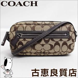 コーチ COACH シグネチャー ミニ ショルダーバッグ 6073 カーキ×ブラウン/中古/質屋出店/あすつく|koera