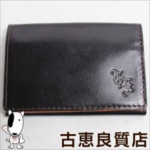 タケオキクチ TAKEO KIKUCHI 名刺入れ メンズ カードケース アルバラックス 906021 ブラック/中古/質屋出店/あすつく|koera