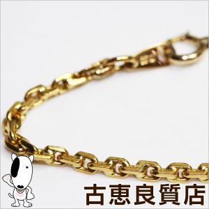 K22 ゴールド ネックレス 19.7g 42cm  デザインチェーン/中古/あすつく/MN1180|koera
