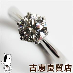 プレミアム会員ポイント5倍 Pt プラチナ リング 指輪 Pt900 D.1.08ct 5.5g サイズ12号 立爪 一粒ダイヤ ソーティング VS-1/J/EX/中古/あすつく/MR1168|koera