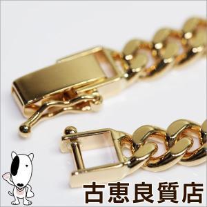 K18 2面喜平 キヘイ ブレスレット 20.2g 約18.5cm ゴールド イエローゴールド/中古/あすつく/MN1152|koera