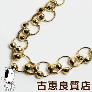 K18 ネックレス 25.6g 40cm ミラーボール ゴールド/中古/質屋出店/あすつく/MN1173|koera