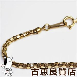 K18 ネックレス デザインカット 9g 55cm 金 ゴールド/中古/質屋出店/あすつく/MN1189|koera