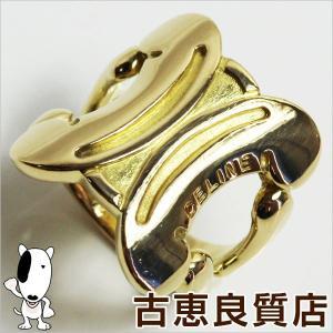 セリーヌ CELINE K18YG 750 イエローゴールド リング 指輪 15.2g サイズ13号/中古/あすつく/MR1187|koera