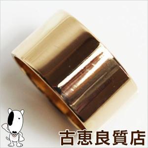 K18 指輪 平打ちリング メンズ 9.1g リング サイズ15号/中古/あすつく/MR1190|koera