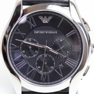 EMPORIOARMANI エンポリオアルマーニ /AR1700 メンズ 腕時計 クオーツ QZ クロノ 黒文字盤 革ベルト/質屋出店[あすつく]/MT1278/中古|koera