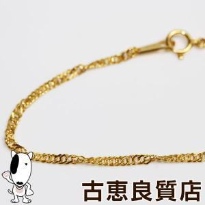 K18 スクリューカット 5.3g 43cm ネックレス ゴールドあすつく/MN1241/中古|koera