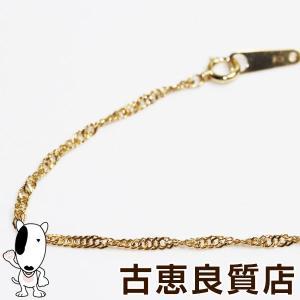 K18 スクリューカット 2.6g 40cm ネックレス ゴールドあすつく/MN1258//中古|koera