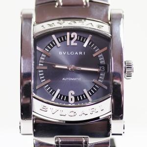 422adcc99559 ブルガリ BVLGARI AA44S メンズ 腕時計アショーマ 自動巻き オートマ SS グレー文字盤 質屋出店 MT1662 中古
