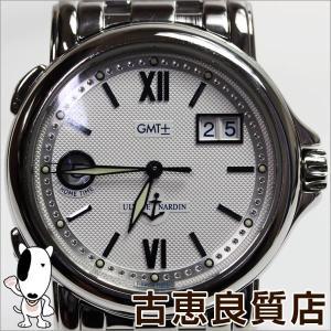 ユリス・ナルダン ULYSSE NARDIN サンマルコ GMT ビッグデイト Sanmarco GMT Big Date 223-88-7メンズ腕時計/中古/質屋出店/あすつく/値下げ/MT818|koera