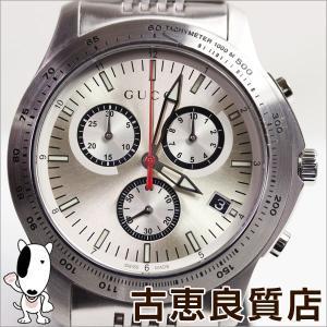 グッチ GUCCI 126.2/YA126255 Gタイムレス クロノ シルバー文字盤 SSベルト メンズ 腕時計 クオーツ/中古/質屋出店/あすつく/MT1054|koera