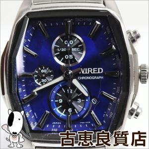 セイコー SEIKO ワイアード WIRED メンズ 腕時計 クロノグラフ 青文字盤 AGAV099/中古/質屋出店/あすつく/MT1072|koera