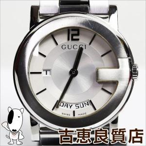 グッチ GUCCI 101M デイデイト YA101306 メンズ シルバー文字盤 腕時計 クォーツ/中古/質屋出店/あすつく/MT1180|koera