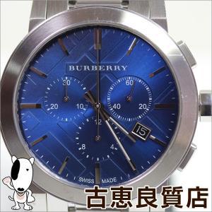 バーバリー ヘリテージ クロノグラフ BURBERRY BU9363 メンズ 腕時計 42mm 青文字盤/MT1263/中古 koera