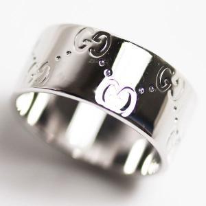 GUCCI グッチ K18WG リング 指輪 アイコンリング ホワイトゴールド サイズ実寸15号(刻印16号)/中古/MR3080|koera