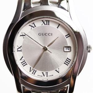 グッチ GUCCI Gクラス メンズ 腕時計5500M/YA055506 シルバー クオーツ/中古/MT2827|koera